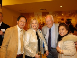 Louis Wong, Beverly and John Robinson, and Mary Jo Wong